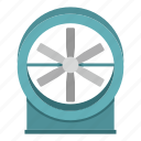 air, cold, electric, fan, propeller, ventilator, wind icon