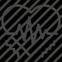 heart, heat, heatstroke, hot, pulse, rates, stroke icon