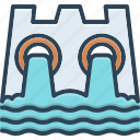 hydro, power, water, dam, conservation, ecology, electricity icon