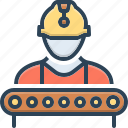 construction, factory, helmet, industry, manager, supervisor, worker icon
