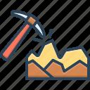 break, dig, equipment, hammer, mineral, mining