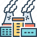 chimney, danger, nuclear, plant, pollution, power, thermal icon