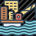 offshore, extraction, development, oil, energy, drilling, platform icon
