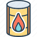 barrel, chemical, container, diesel, natural, oil, production icon