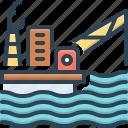 offshore, development, oil, energy, drilling, exploration, platform icon