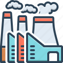 chimney, danger, industryfactory, nuclear, plant, power, thermal icon