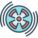 circle, therapy, radiation, sign, caution, eradiation, danger icon