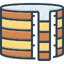 container, filter, liquid, purification, purity, storage, tank icon