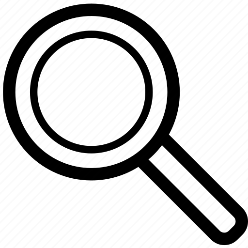 business, discover, glass, line, mag, magnifying glass, zoom icon