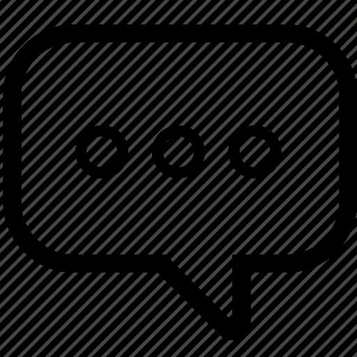 bubble, business, chat, line, social, speech, talk icon