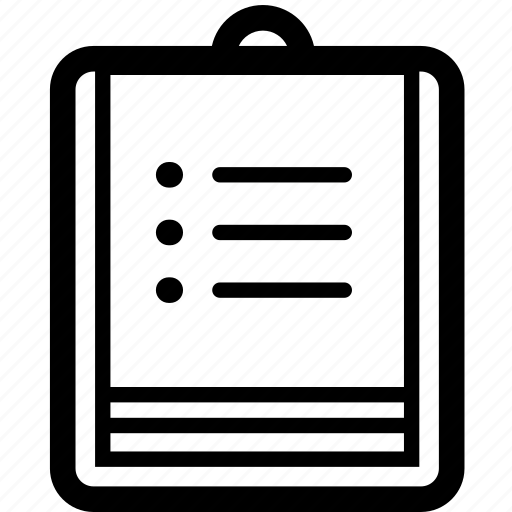business, checklist, clipboard, line, list, notes, todo icon