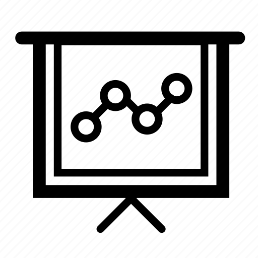 business, chart, keynote, line, present, presentation icon