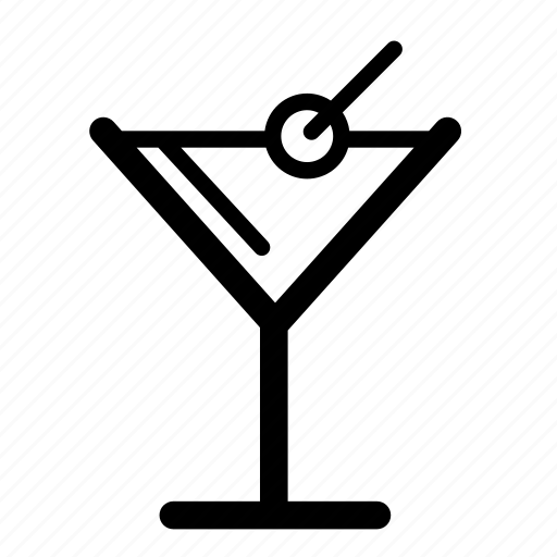 cocktail, cooking, drink, food, line, martini icon