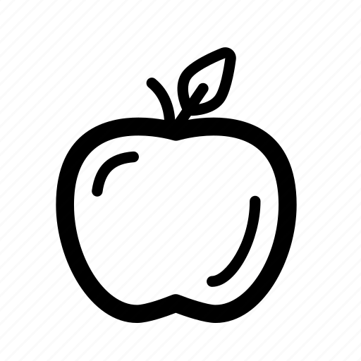 apple, cooking, eat, food, line icon