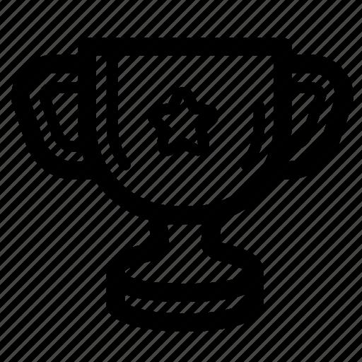 game, gaming, line, reward, trophy icon