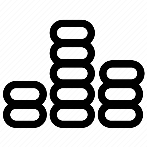 audio, levels, line, music, volume icon