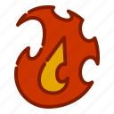 fire, flame, halloween icon
