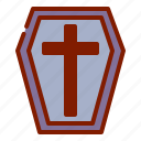 coffin, ghost, halloween icon