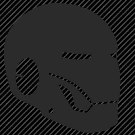 head, helmet, iron, man, mask icon