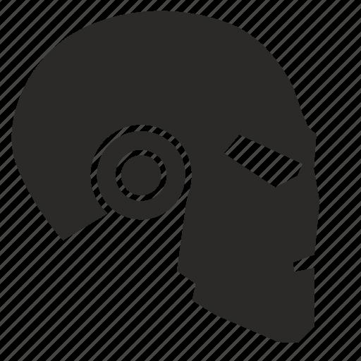 head, helmet, iron, man, mask, metal, terminator icon