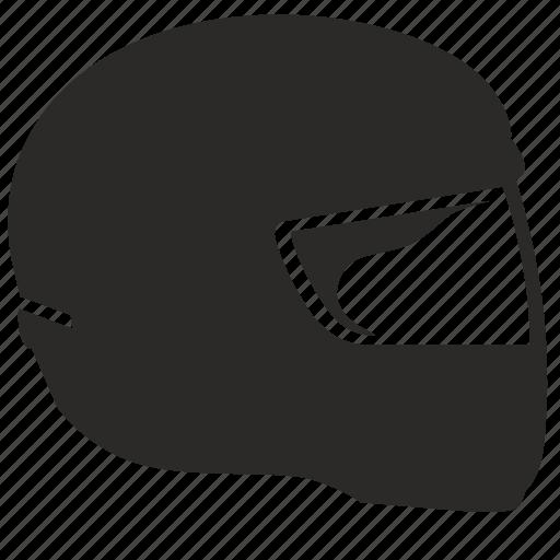 head, helmet, moto, race, racer, safety icon