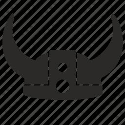 helmet, lider, old, tribe, viking icon