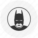 avatar, batman, comics, face, hero, mask, round icon