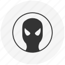 avatar, face, man, mask, round, spider, spiderman icon