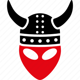 alien, armor, devil, horned helmet, knight, monster, warrior icon