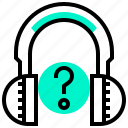 answer, faq, listening, question, service icon
