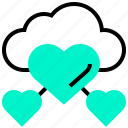 cloud, favourite, friendly, relation, support icon