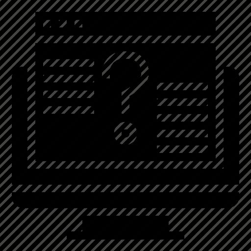 answer, faq, forum, online, question icon