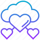 cloud, favourite, friendly, relation, support