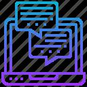 communication, conversation, help, message, online icon