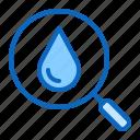 blood, drop, glass, hematology, magnifier, test