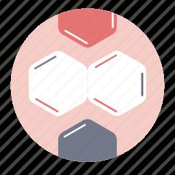 benzene, chemistry compound, molecule, science icon