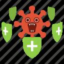 coronavirus, covid, covid-19, epidemic, herd immunity, quarantine icon