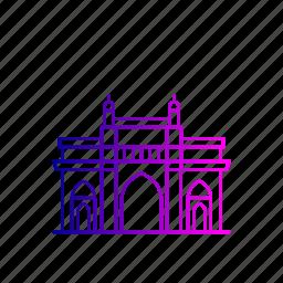 architecture, building, gatewayofindia, heritage, india, mumbai, structure icon