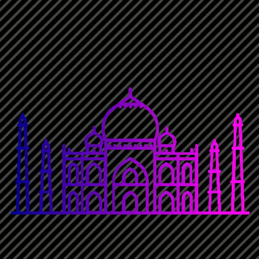 agra, architecture, india, monument, tajmahal, wonder, world icon