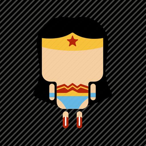 .svg, cute, hero, mini, strong, woman icon