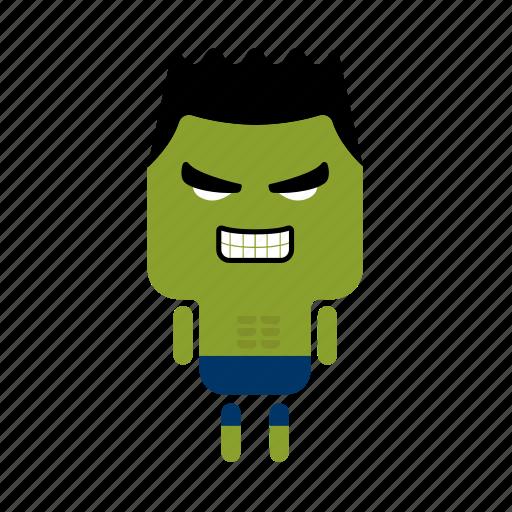3, cute, green, hero, mini, strong icon