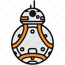 bb8, droid, robot, star wars icon