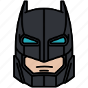 armour, batman, dc comics, helmet icon
