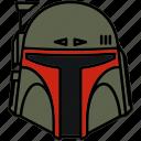 boba fett, helmet, mercenary, star wars