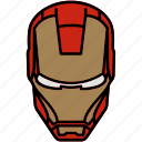 iron man, marvel, mask, suit icon