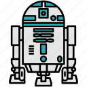 r2d2, droid, robot, star wars icon