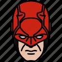 daredevil, defenders, marvel, mask icon