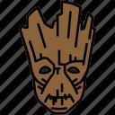 avengers, groot, marvel, tree icon