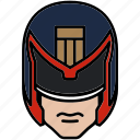 authority, helmet, judge dredd, police icon