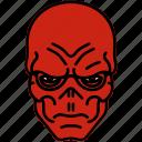 avengers, marvel, red skull, skull icon